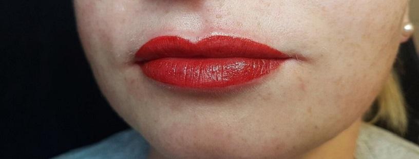 Lippen Permanent Makeup nachher